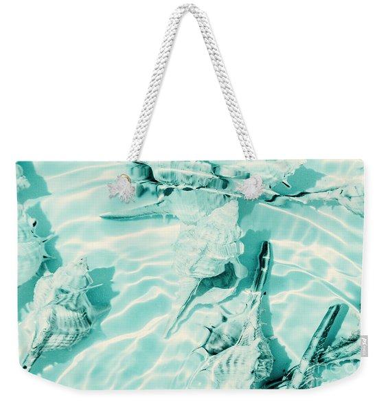 Shell Shallows Weekender Tote Bag