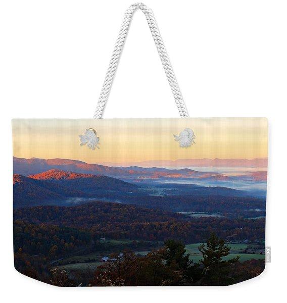Shenandoah Mountains Weekender Tote Bag