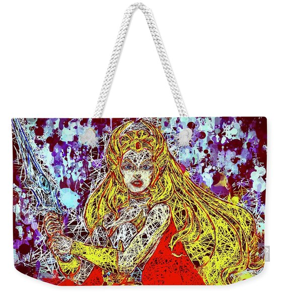 Weekender Tote Bag featuring the mixed media She - Ra by Al Matra