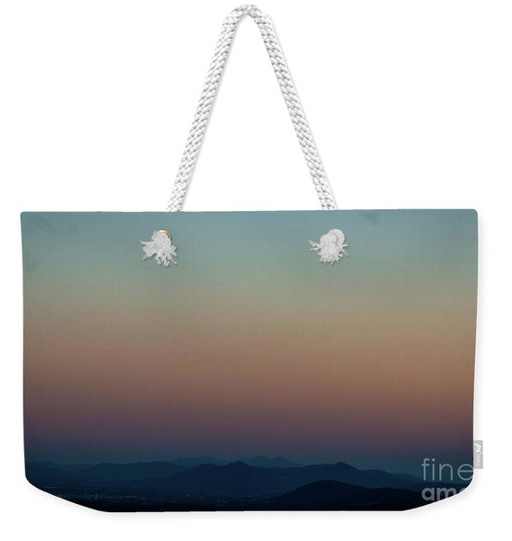 Sherbert Sunset Over The Blue Ridge Mountains Weekender Tote Bag