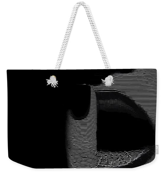 Weekender Tote Bag featuring the digital art Shhh by ISAW Company