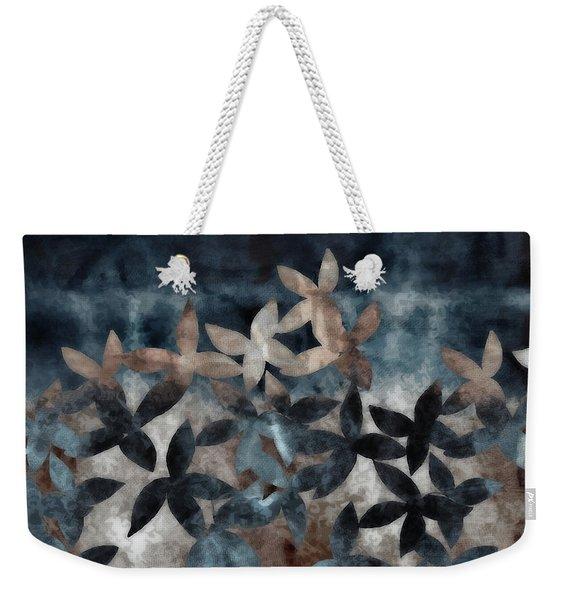 Shibori Leaves Indigo Print Weekender Tote Bag