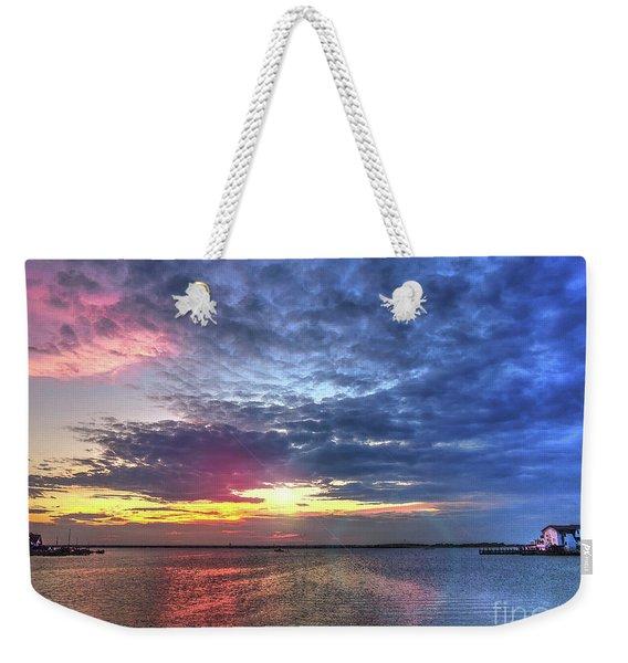 Ship Bottom Sunset Weekender Tote Bag