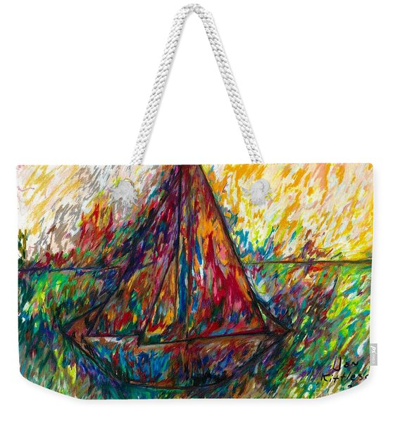 Ship In Color Weekender Tote Bag