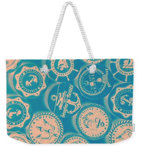 Ship Shape Nautical Designs Weekender Tote Bag