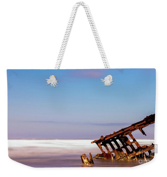 Weekender Tote Bag featuring the photograph Ship Wreck by Dheeraj Mutha