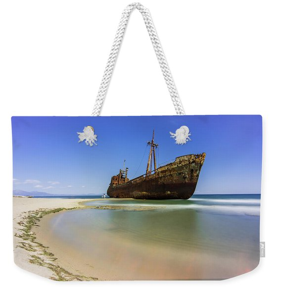 Shipwreck Dimitros Near Gythio, Greece Weekender Tote Bag