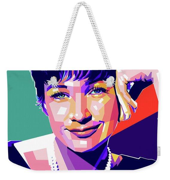 Shirley Maclaine Pop Art Weekender Tote Bag