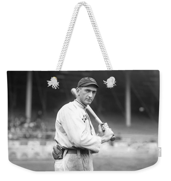 Shoeless Joe Jackson, Black Betsy In Hand, During His 1913 Season With The Cleveland Naps. Weekender Tote Bag
