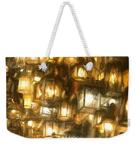 Shopping For Lighting Weekender Tote Bag
