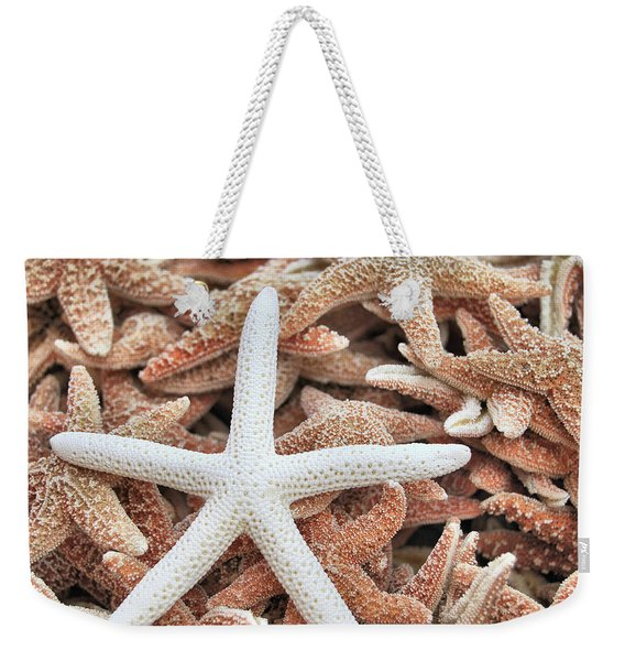 Weekender Tote Bag featuring the photograph Show Off Starfish by JAMART Photography