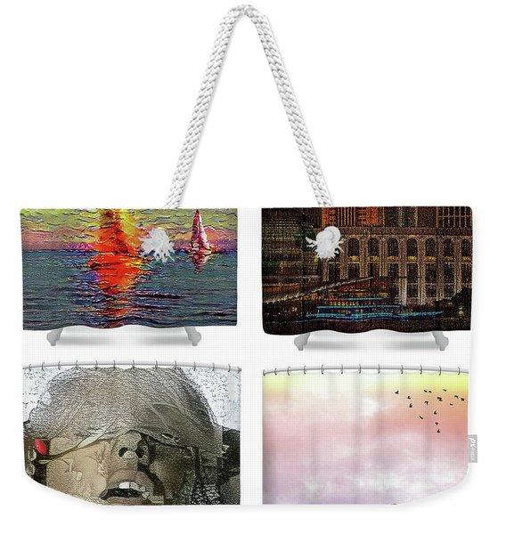 Shower Curtains Samples Weekender Tote Bag