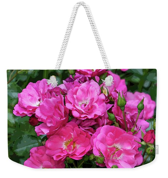 Shrub Rose Stylized Weekender Tote Bag