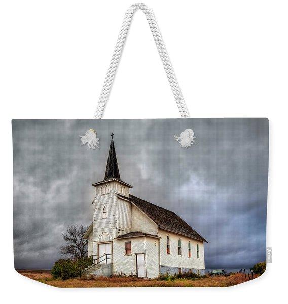 Shuttered Church In Cartwright North Dakota Weekender Tote Bag