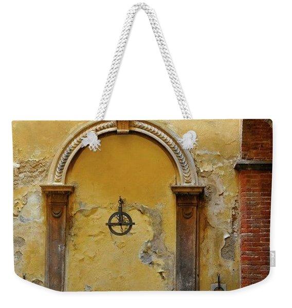 Sienna Fountain Courtyard Weekender Tote Bag