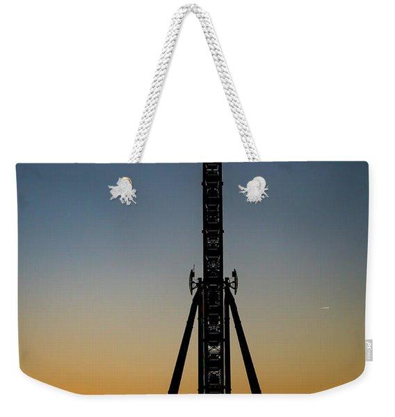 Silhouette Of A Ferris Wheel Weekender Tote Bag