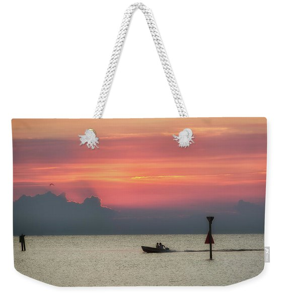 Silhouette's Sailing Into Sunset Weekender Tote Bag