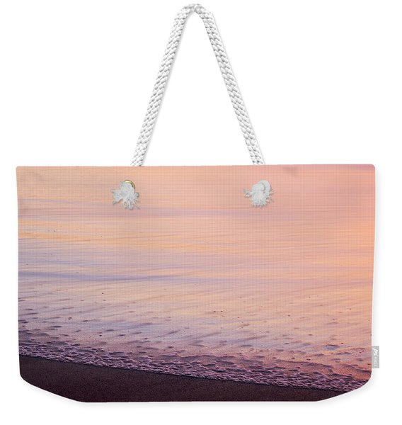 Weekender Tote Bag featuring the photograph Silky Sea by Whitney Goodey