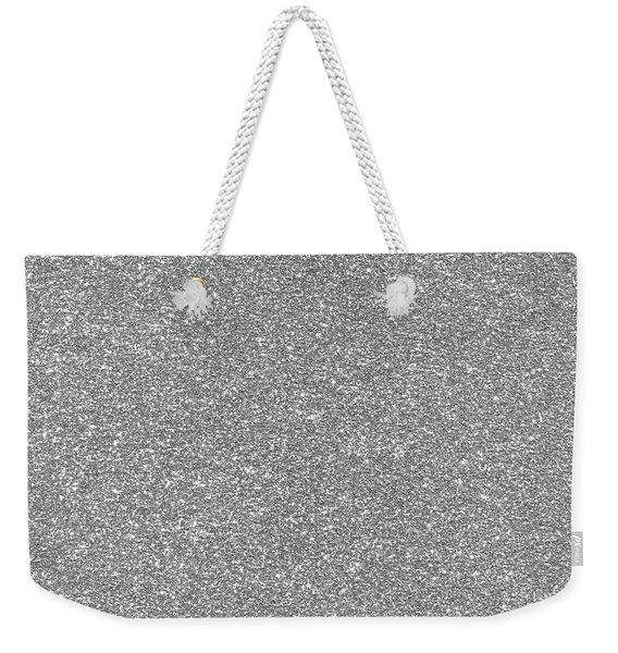 Silver Glitter  Weekender Tote Bag