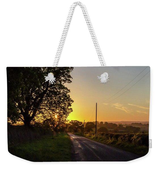 Silver Lines Weekender Tote Bag