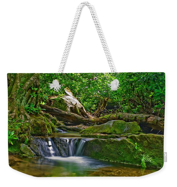 Sims Creek Waterfall Weekender Tote Bag