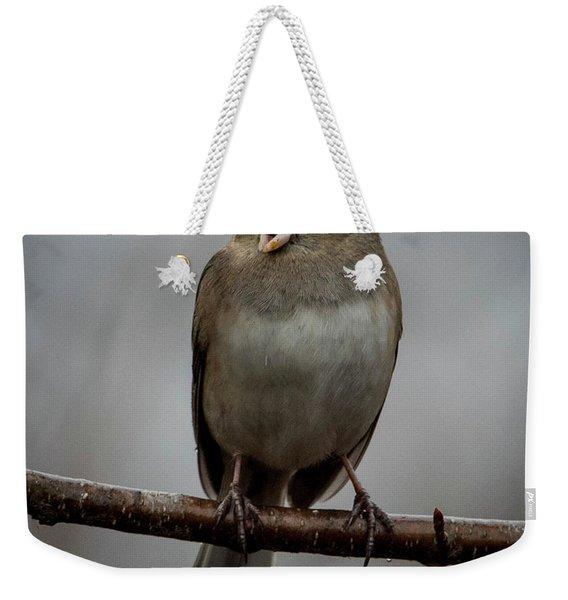 Singing Junco 1 Weekender Tote Bag