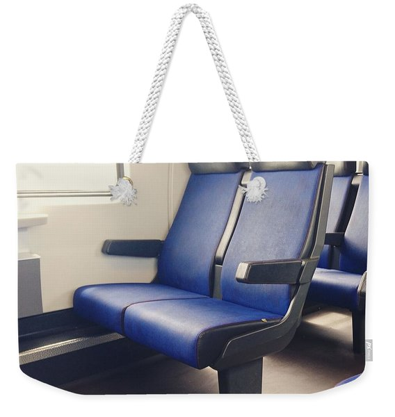 Sitting On Trains Weekender Tote Bag