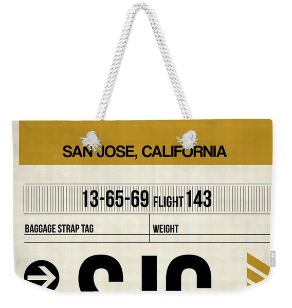 Sjc San Jose Luggage Tag I Weekender Tote Bag