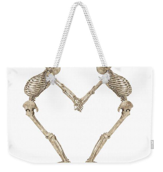 Skeleton Yoga 001 Weekender Tote Bag