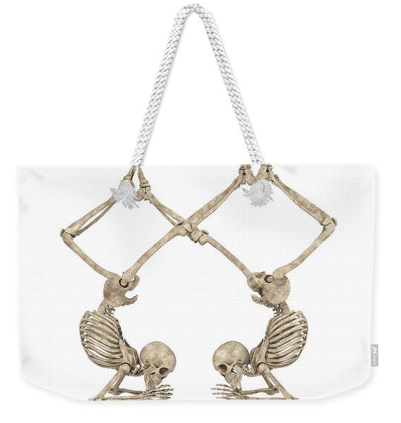 Skeleton Yoga 002 Weekender Tote Bag