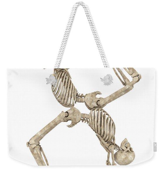 Skeleton Yoga 003 Weekender Tote Bag