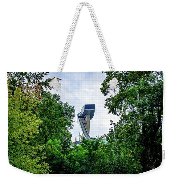Ski Jump Tower Weekender Tote Bag