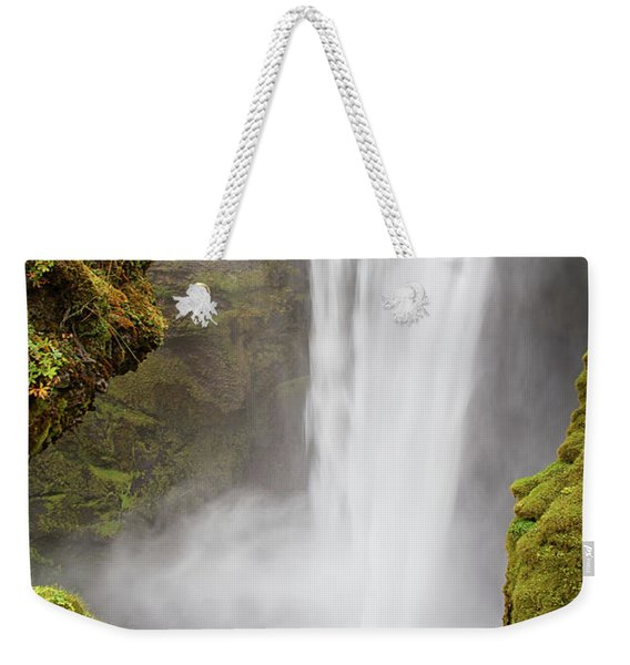 Skogafoss Iceland Weekender Tote Bag