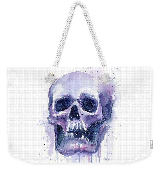 Skull In Space Weekender Tote Bag