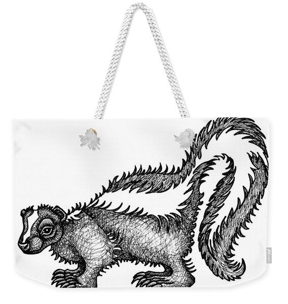 Skunk Weekender Tote Bag
