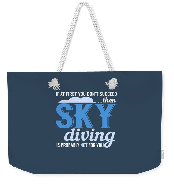 Sky Diving Weekender Tote Bag