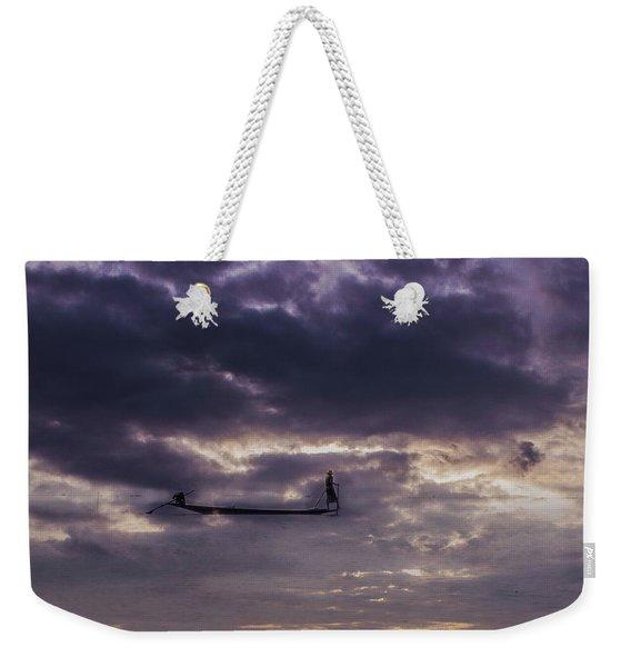 Sky Fisherman Weekender Tote Bag