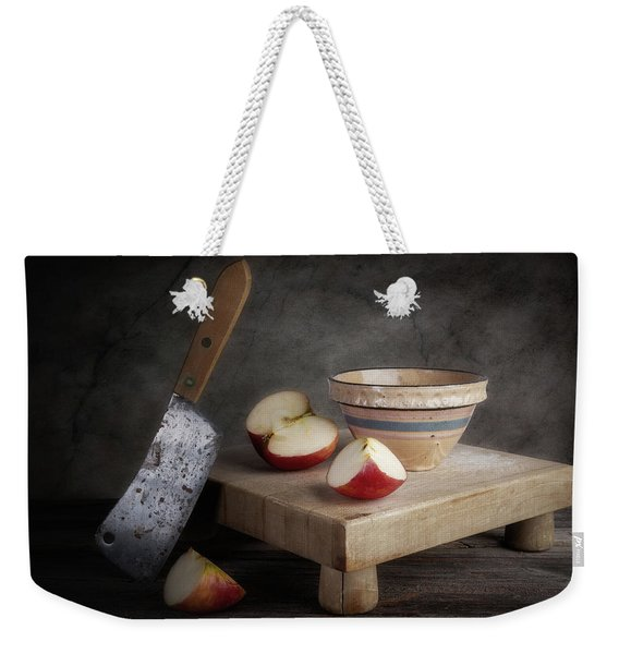 Sliced Apple Weekender Tote Bag