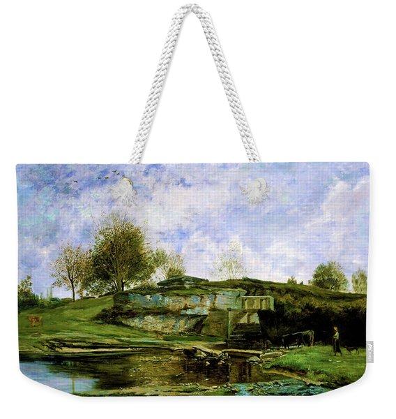 Sluice In The Optevoz Valley - Digital Remastered Edition Weekender Tote Bag