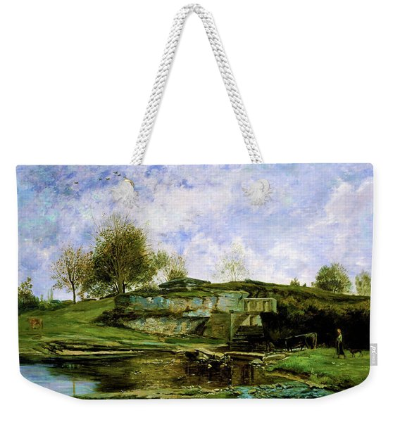 Sluice In The Optevoz Valley - Digital Remastered Edition Weekender Tote Bag