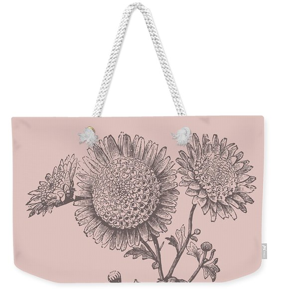 Small Anemone Blush Pink Flower Weekender Tote Bag