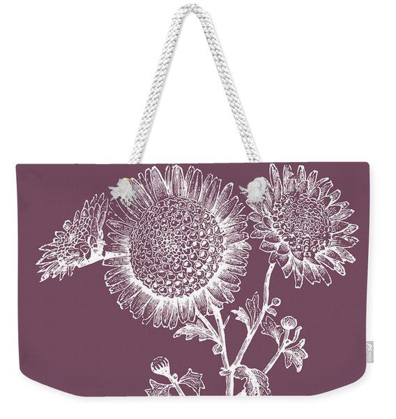 Small Anemone Purple Flower Weekender Tote Bag