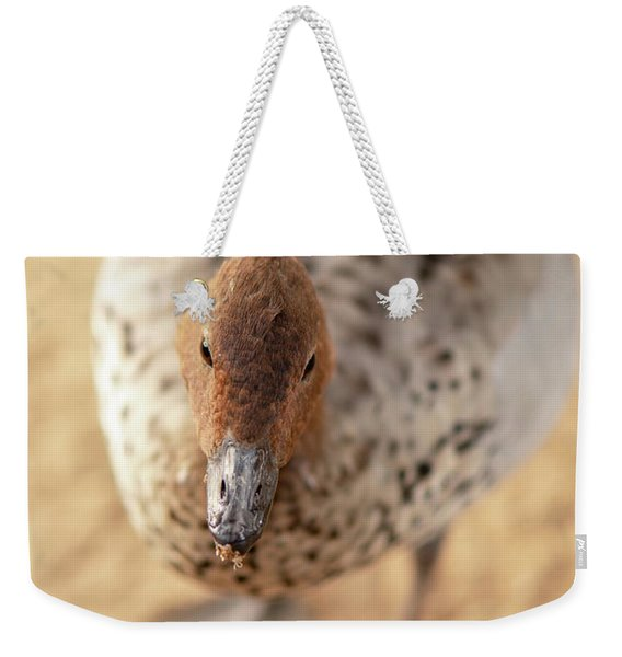 Small Duck On The Farm Weekender Tote Bag