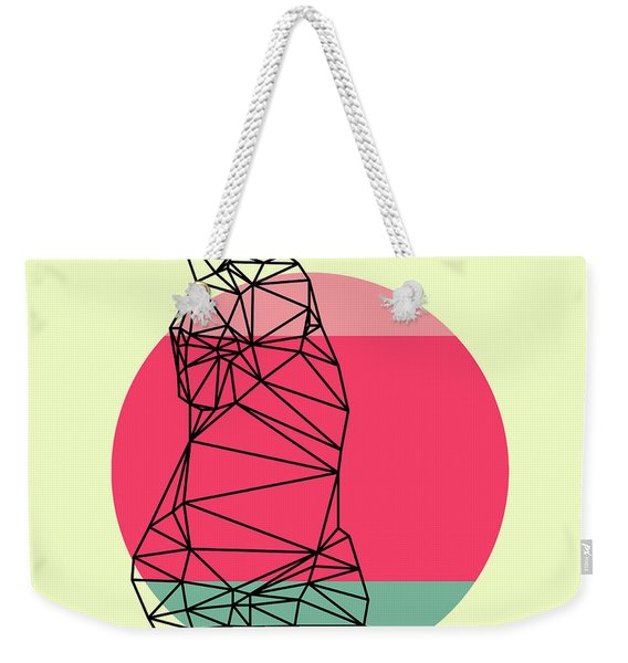 Smart Cat And Sunset Weekender Tote Bag
