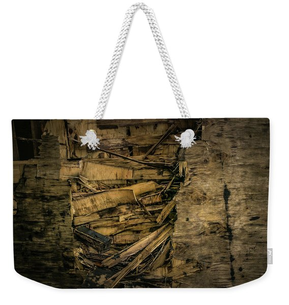 Smashed Wooden Wall Weekender Tote Bag