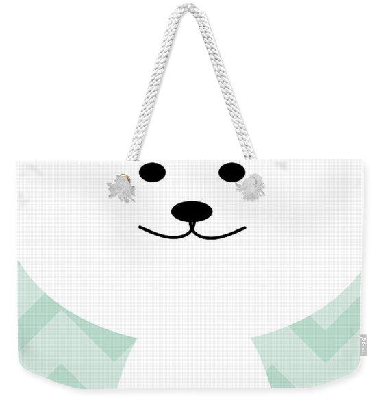 Smiling Cat Boy Nursery Art Weekender Tote Bag