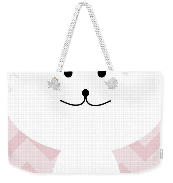 Smiling Cat Girl Nursery Art Weekender Tote Bag