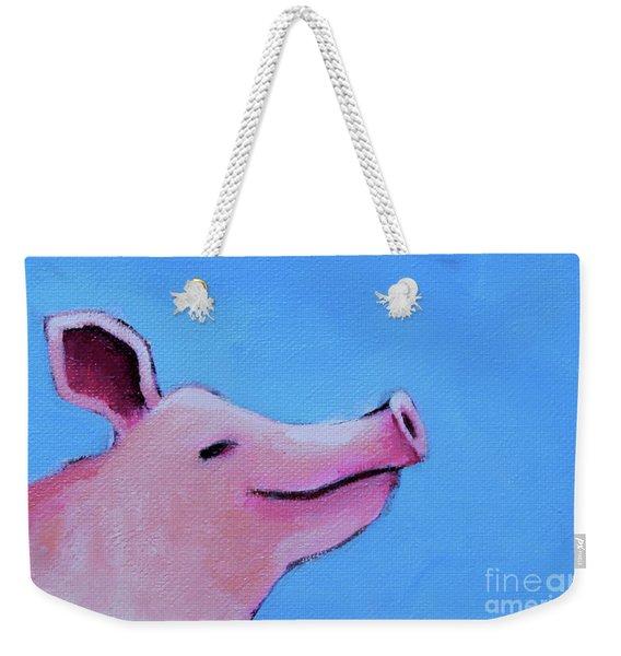 Smiling Pig Weekender Tote Bag