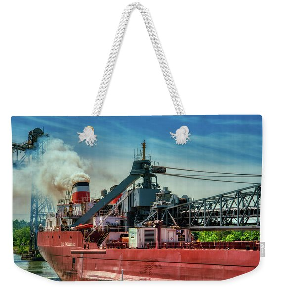 Smoke And Freight Weekender Tote Bag