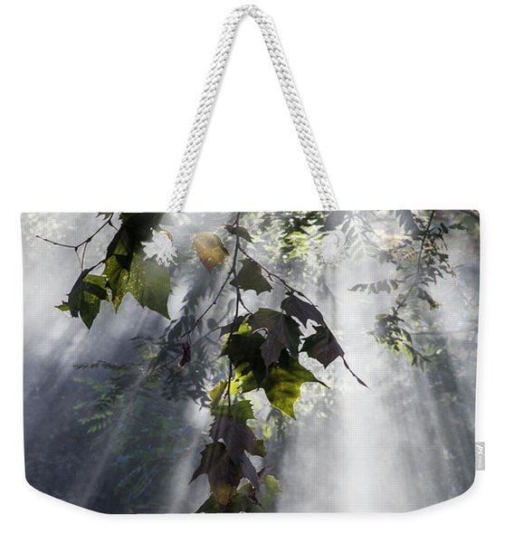 Smoke Gets In Your Skies Weekender Tote Bag